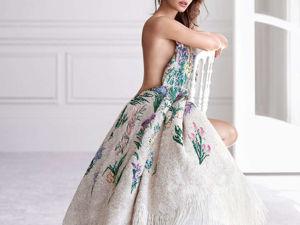 Как создавалось платье Natalie Portman для рекламной кампании Miss Dior 2017. Ярмарка Мастеров - ручная работа, handmade.
