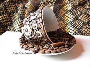 """Как сделать оригинальный сувенир """"Кофейная чашка"""". Ярмарка Мастеров - ручная работа, handmade."""