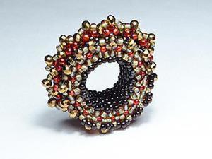 Создаем ажурное кольцо для шарфа. Ярмарка Мастеров - ручная работа, handmade.