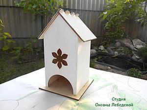 Как подготовить сборной чайный домик к декорированию. Ярмарка Мастеров - ручная работа, handmade.