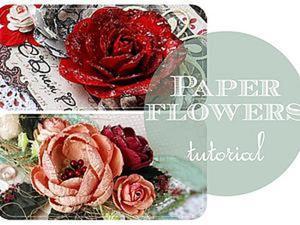 Видео мастер-класс: делаем цветы из бумаги. Ярмарка Мастеров - ручная работа, handmade.