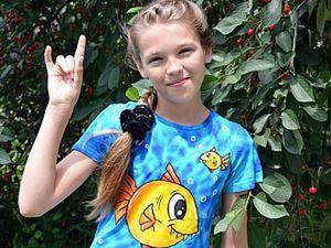 Превращение детской запятнанной футболки в оригинальную и яркую вещь. Ярмарка Мастеров - ручная работа, handmade.