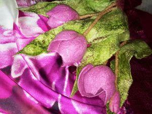 Тюльпаны и другие цветы из войлока. Ярмарка Мастеров - ручная работа, handmade.
