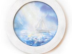Рисуем морской пейзаж акварельными красками. Ярмарка Мастеров - ручная работа, handmade.