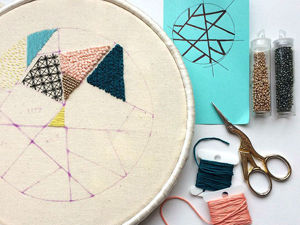 Geometry within Hoops: Fascinating Embroidery by Needlewoman Rosie. Livemaster - handmade