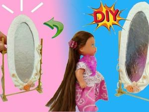 Видеоурок: делаем зеркало для кукол. Ярмарка Мастеров - ручная работа, handmade.