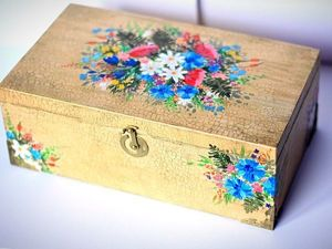 Giving the Second Life to a Wooden Box: Restoration and Decoration. Livemaster - handmade