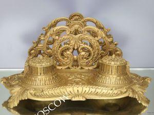 Чернильница антикварная салфетница бронза Франция DEPOSE 9. Ярмарка Мастеров - ручная работа, handmade.