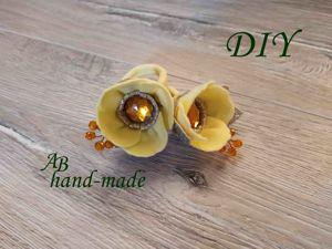Создаем сказочный цветок из фетра на резинке. Ярмарка Мастеров - ручная работа, handmade.