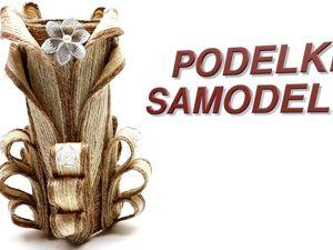 Мастерим вазу из джута своими руками. Ярмарка Мастеров - ручная работа, handmade.
