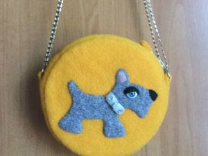 Изготавливаем детскую сумочку из шерстяного фетра. Ярмарка Мастеров - ручная работа, handmade.