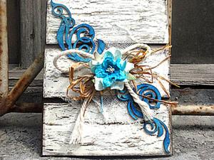 Открытка из картона. Ярмарка Мастеров - ручная работа, handmade.