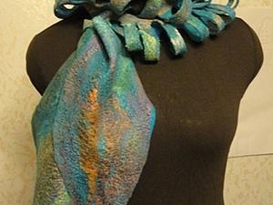 «Лестница в небо»: валяем стильный шарф. Ярмарка Мастеров - ручная работа, handmade.