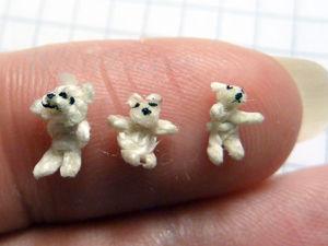 Делаем микроскопического мишку своими руками. Ярмарка Мастеров - ручная работа, handmade.