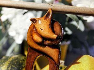 Шпилька  «Лиса». Ярмарка Мастеров - ручная работа, handmade.