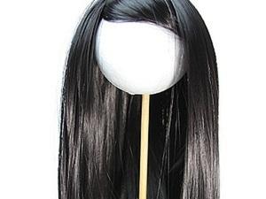 Укладка трессов на голове куколки. Ярмарка Мастеров - ручная работа, handmade.