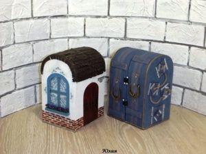 Делаем домик-кофр для игрушки. Ярмарка Мастеров - ручная работа, handmade.
