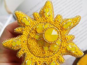 Видео-обзор броши  «Яркое солнышко». Ярмарка Мастеров - ручная работа, handmade.