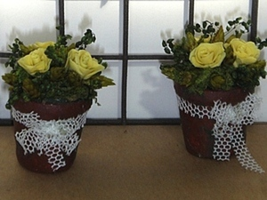 Миниатюрные цветочные горшки своими руками. Ярмарка Мастеров - ручная работа, handmade.