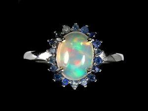 Серебряное кольцо с опалом, размер 18,5. Ярмарка Мастеров - ручная работа, handmade.