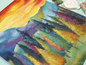Картина кухонными губками. Ярмарка Мастеров - ручная работа, handmade.