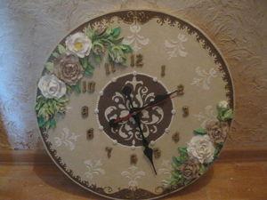 Декоративно-скульптурная (объемная) живопись. Часть 1: подготовка основы для часов. Ярмарка Мастеров - ручная работа, handmade.