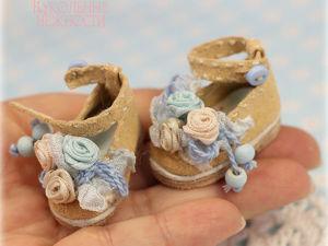 Украшаем миниатюрные туфельки для куклы в стиле шебби-шик: видеоурок. Ярмарка Мастеров - ручная работа, handmade.