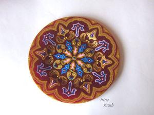 Мастер-класс для начинающих: точечная роспись тарелки. Часть 2. Основная. Ярмарка Мастеров - ручная работа, handmade.