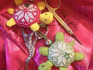 Шьем маячок для ножниц «Черепашка». Ярмарка Мастеров - ручная работа, handmade.