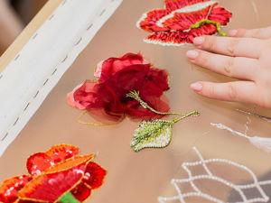 Вышивка цветов в разных техниках. Ярмарка Мастеров - ручная работа, handmade.