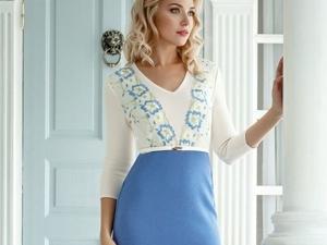 Аукцион на  вязаное платье с французским кружевом ! Старт 2500 руб.!. Ярмарка Мастеров - ручная работа, handmade.