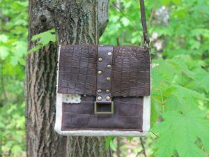Кожаная сумочка в стиле Вестерн. Ярмарка Мастеров - ручная работа, handmade.