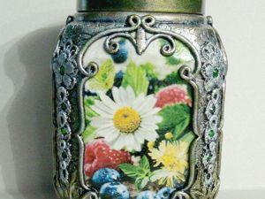 Декорированная баночка для чая. Готика. Ярмарка Мастеров - ручная работа, handmade.