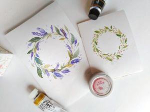 Рисуем акварелью простую открытку. Ярмарка Мастеров - ручная работа, handmade.