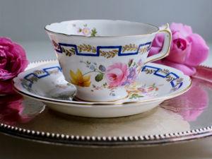 Винтажная фарфоровая чайная пара Royal Crown Derby Англия. Ярмарка Мастеров - ручная работа, handmade.