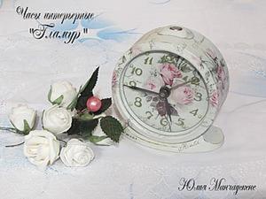 """Декорируем часы интерьерные """"Гламур"""". Ярмарка Мастеров - ручная работа, handmade."""