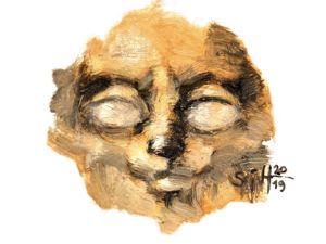 День 338. Миниатюра маслом  «Скифский кот» . 39-я работа из серии 50 дней масла. Ярмарка Мастеров - ручная работа, handmade.