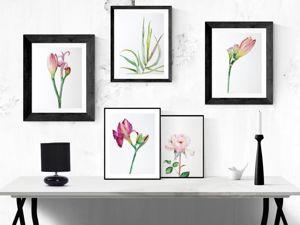 Новые летние работы! Портреты цветов акварелью. Ярмарка Мастеров - ручная работа, handmade.