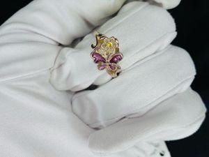 Серебряное кольцо Бабочка с эмалью. Ярмарка Мастеров - ручная работа, handmade.