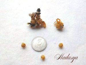 Изготавливаем миниатюрную золотую рыбку в технике игольного кружева. Ярмарка Мастеров - ручная работа, handmade.