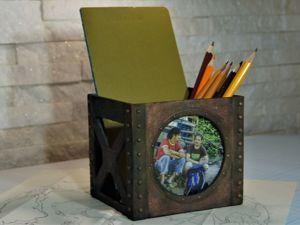Была коробочка для мелочей, а стала фоторамка на стол. Ярмарка Мастеров - ручная работа, handmade.