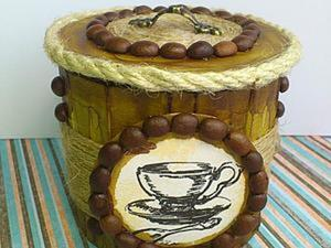 """Создание сахарницы с крышкой """"Кофейные мотивы"""". Ярмарка Мастеров - ручная работа, handmade."""