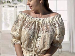 Новое платье Одетта cream. Ярмарка Мастеров - ручная работа, handmade.