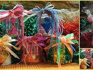 Подсвечник праздничный, или Вторая жизнь баночки из-под детского питания. Ярмарка Мастеров - ручная работа, handmade.