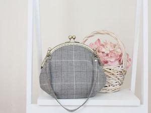 Шьем сумку с круглым пришивным фермуаром. Ярмарка Мастеров - ручная работа, handmade.