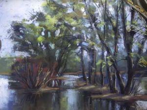 Видеоурок: рисуем весенний пейзаж «Половодье» сухой пастелью. Ярмарка Мастеров - ручная работа, handmade.
