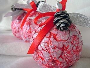 Новогодний шар на елку с яичной скорлупой. Ярмарка Мастеров - ручная работа, handmade.