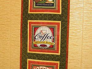 """Пэчворк для начинающих!  панно """"Кофейное настроение"""". Ярмарка Мастеров - ручная работа, handmade."""