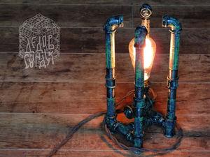 Процесс создания настольной лампы ручной работы «Бутон» в стиле лофт. Ярмарка Мастеров - ручная работа, handmade.