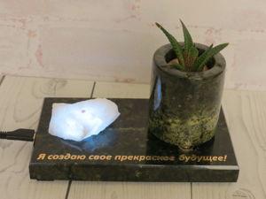 Сувенир из змеевика и шпинели с подсветкой. Ярмарка Мастеров - ручная работа, handmade.